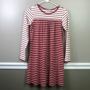 Hanna Andersson   Red Stripe Long Sleeve Dress 140